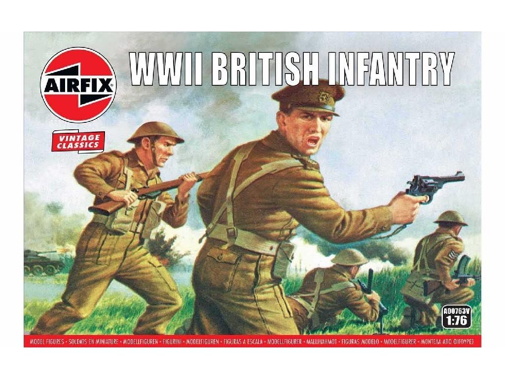 1/76 Plastikový model - Vintage figúrky A00763V - WWII British Infantry