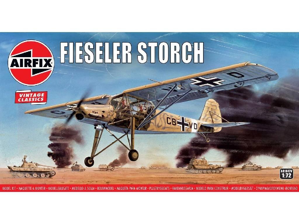1/72 Classic Kit VINTAGE letadlo A01047V - Fiesler Storch