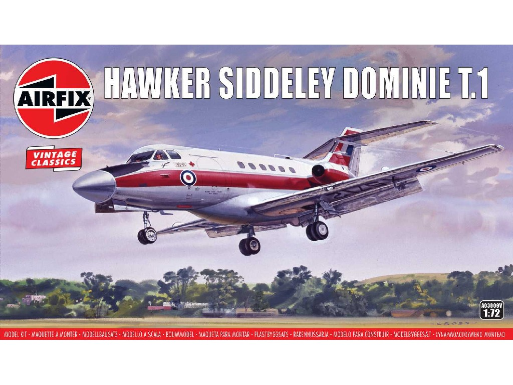 1/72 Plastikový model - letadlo A03009V - Hawker Siddeley Dominie T.1
