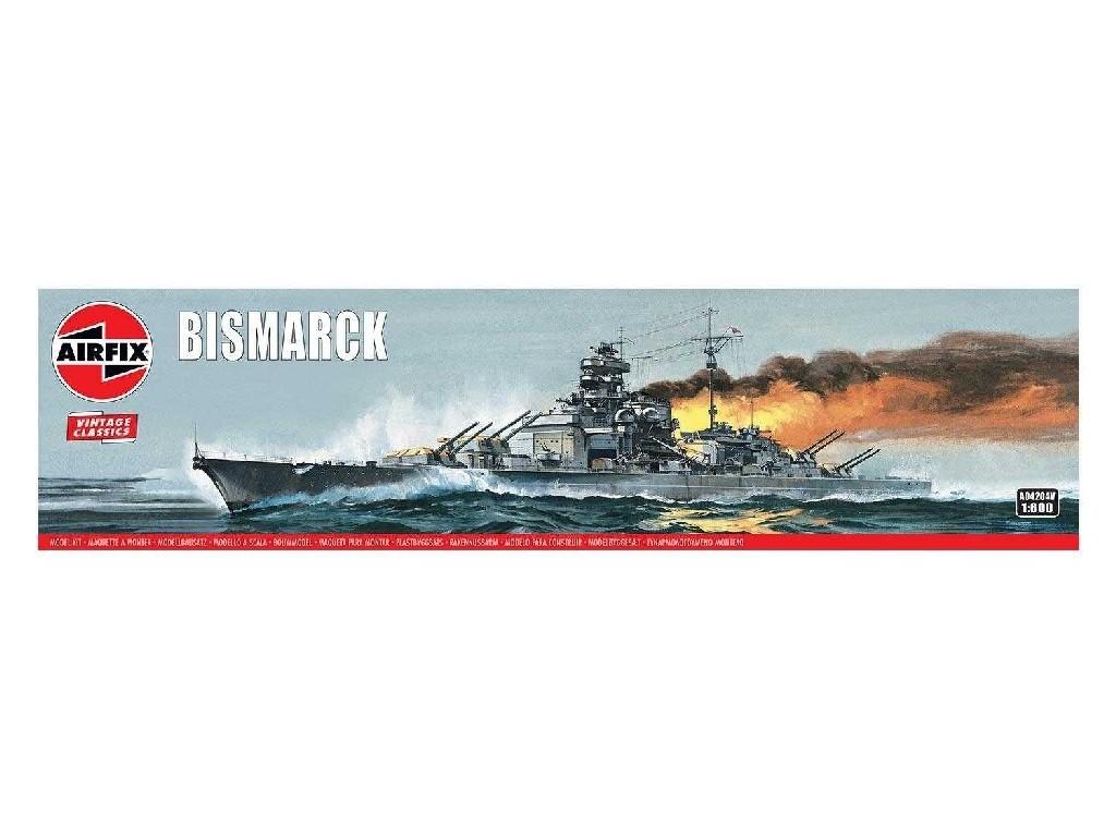 1/600 Plastikový model - Vintage loď A04204V - Bismarck