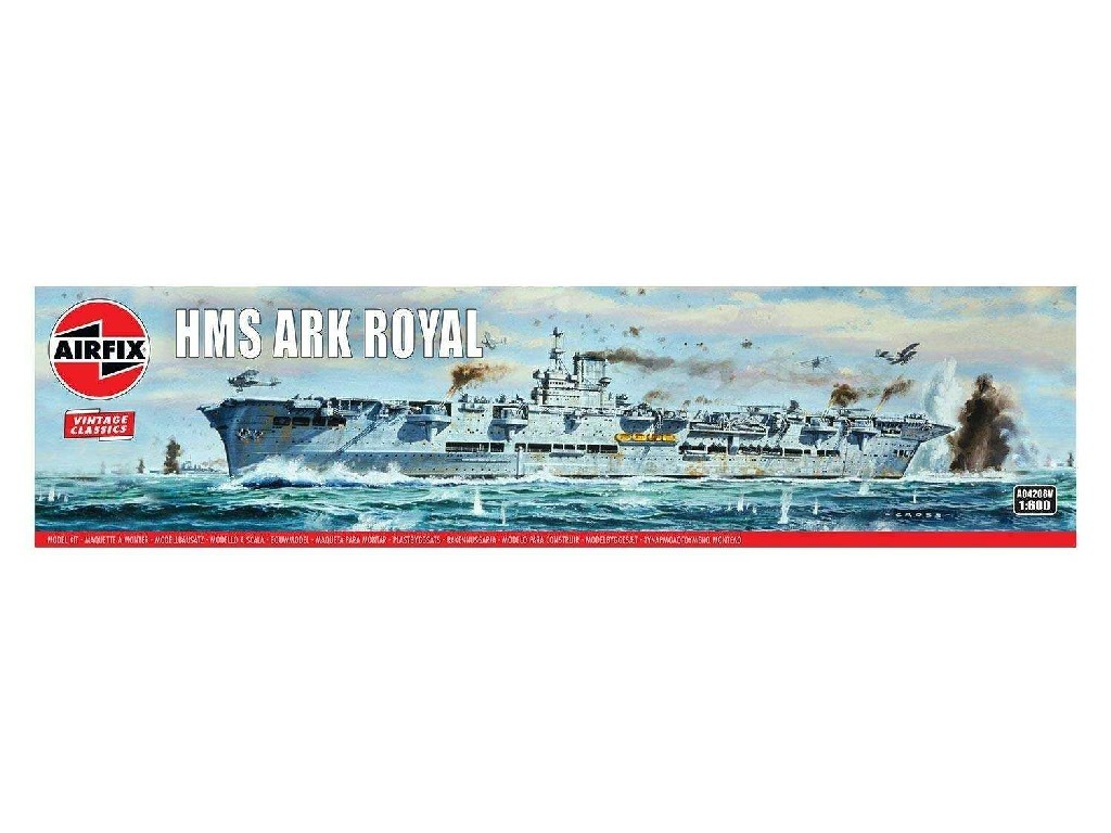 1/600 Plastikový model - Vintage loď A04208V - HMS Ark Royal