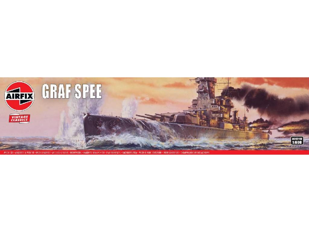 1/600 Plastikový model - VINTAGE loď A04211V - Admiral Graf Spee