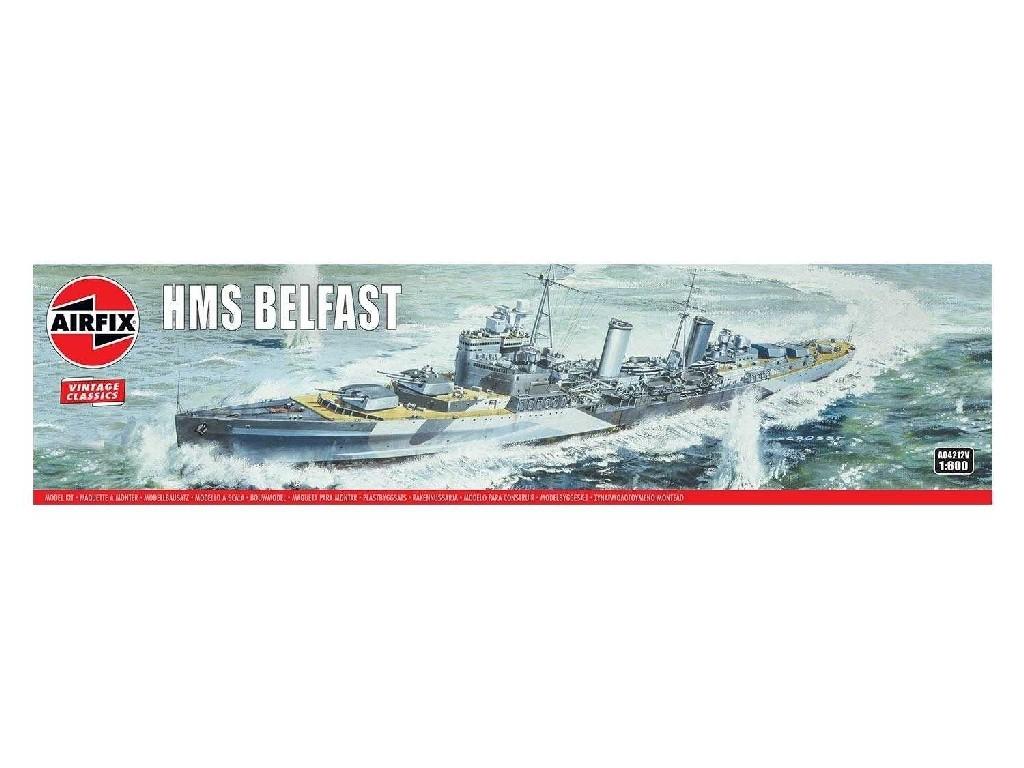 1/600 Plastikový model - Vintage loď A04212V - HMS Belfast