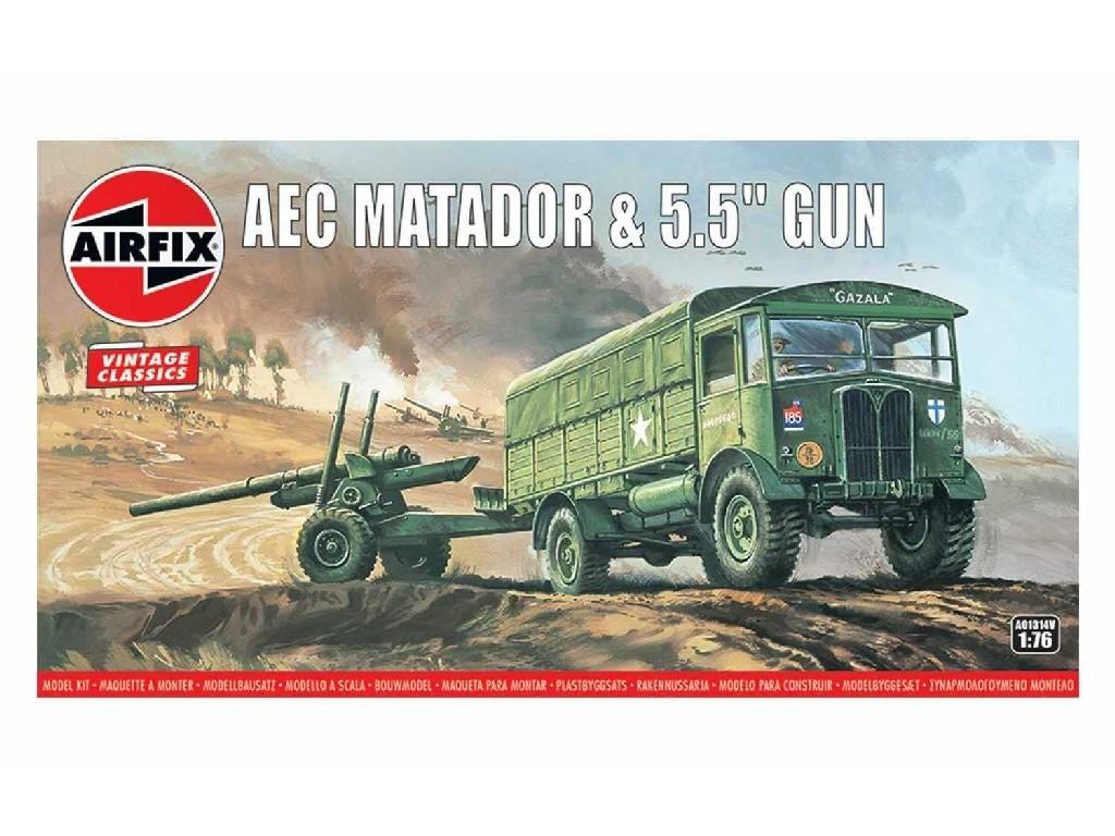 1/76 AEC Matador and 5.5 Gun