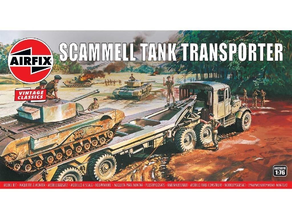 1/76 Plastikový model - Vintage military A02301V - Scammell Tank Transporter