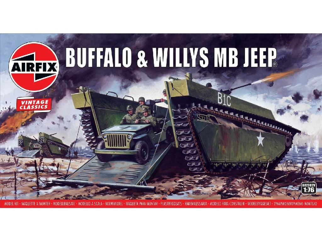 1/76 Classic Kit VINTAGE military A02302V - Buffalo Willys MB Jeep