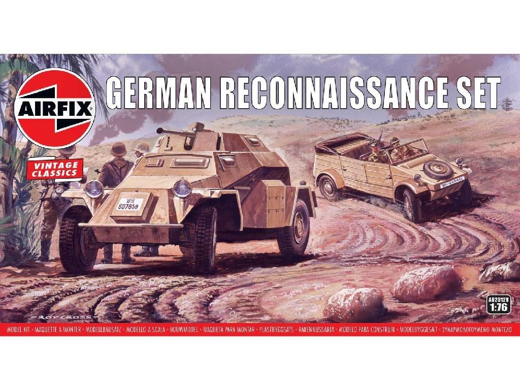 1/76 Plastikový model - Vintage military A02312V - German Reconnaisance Set