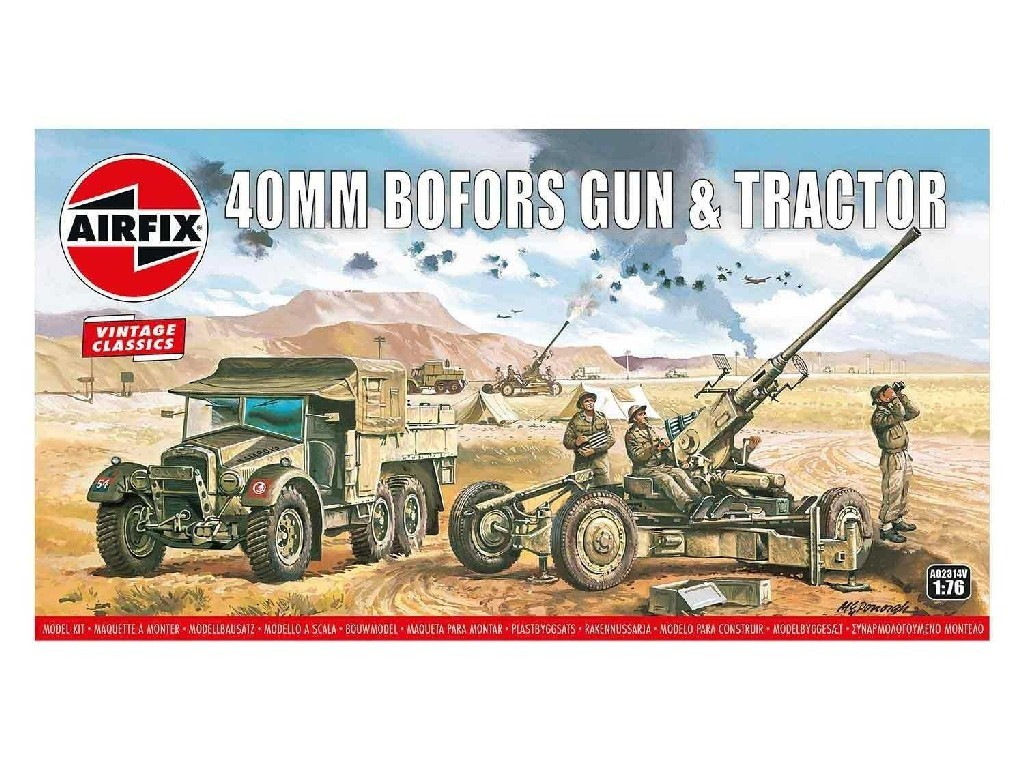 1/76 Bofors 40mm Gun and Tractor