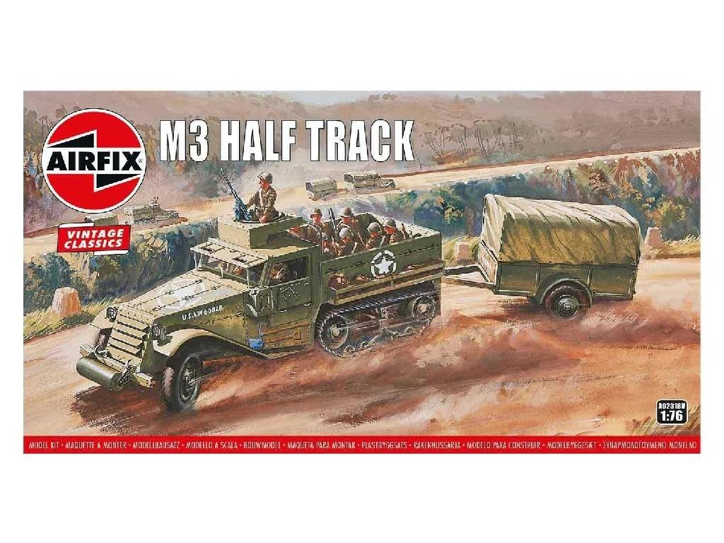 1/76 M3 Half Track and 1 Ton Trailer