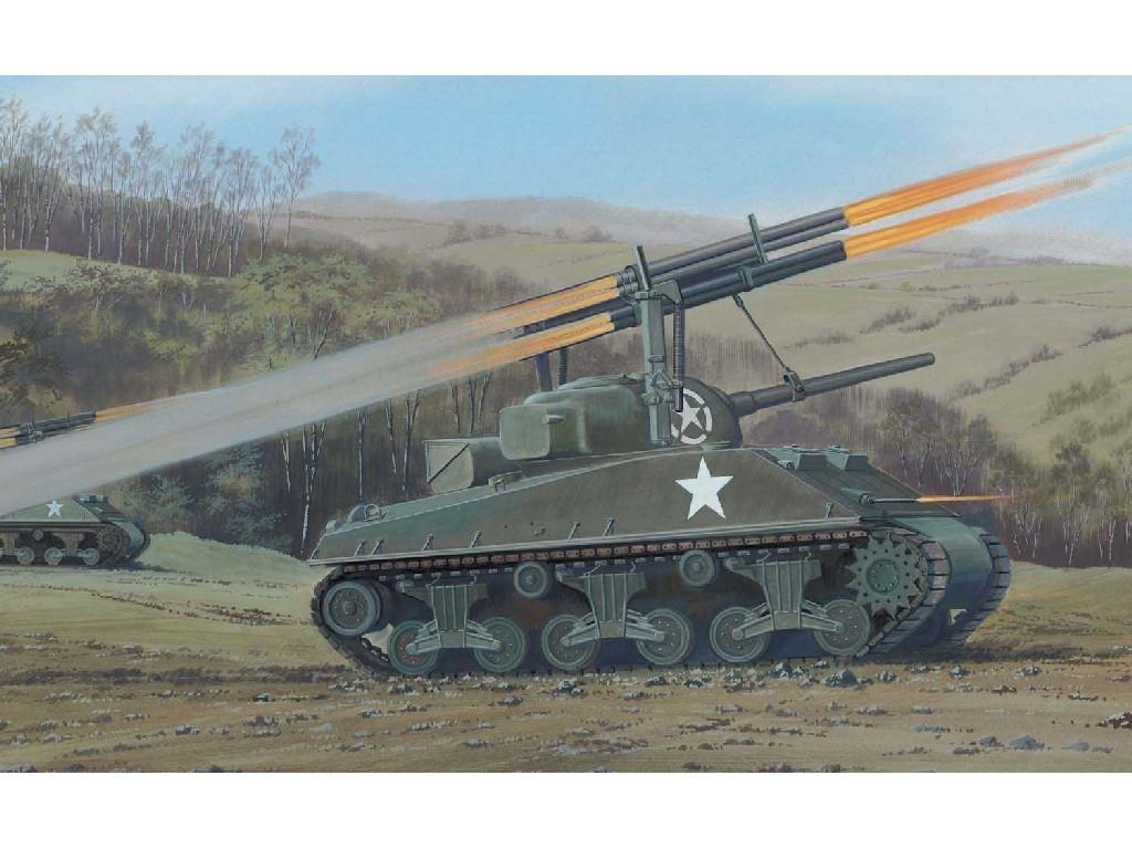1/76 Plastikový model - Vintage military A02334V - Sherman Calliope