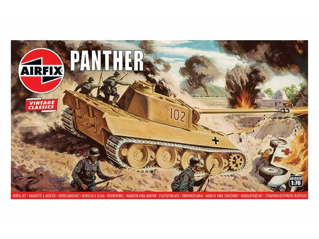 1/76 Plastikový model - Vintage tank A01302V - Panther