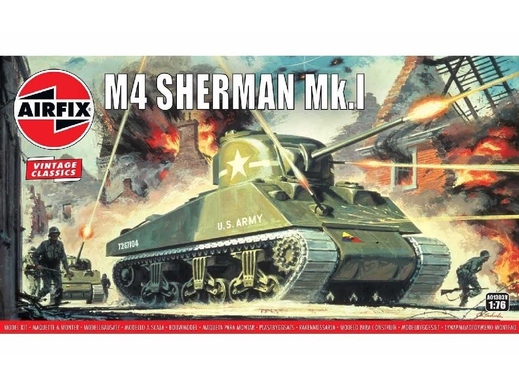1/76 Plastikový model - Vintage tank A01303V - Sherman M4 Mk1