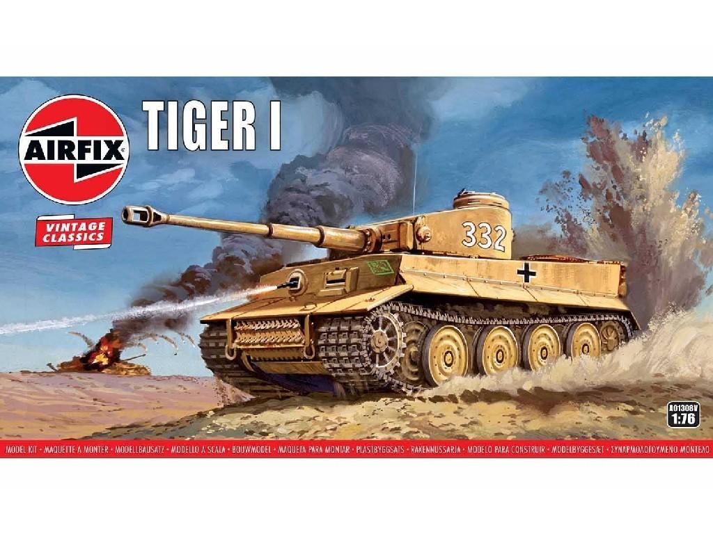 1/76 Plastikový model - Vintage tank A01308V - Tiger 1