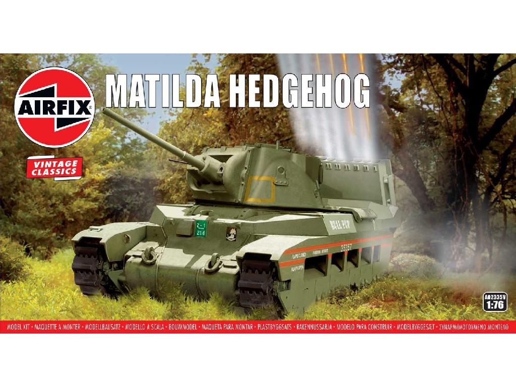 1/76 Plastikový model - VINTAGE tank A02335V - Matilda Hedgehog Tank