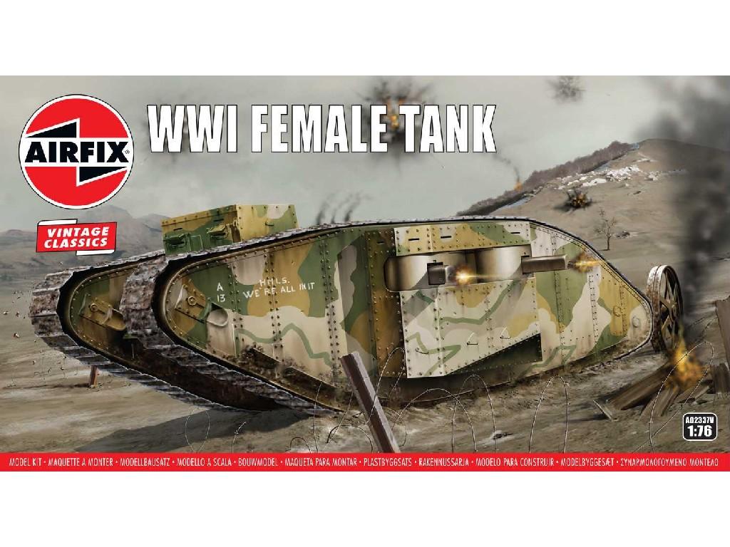 1/76 Plastikový model - VINTAGE tank A02337V - WWI Female Tank
