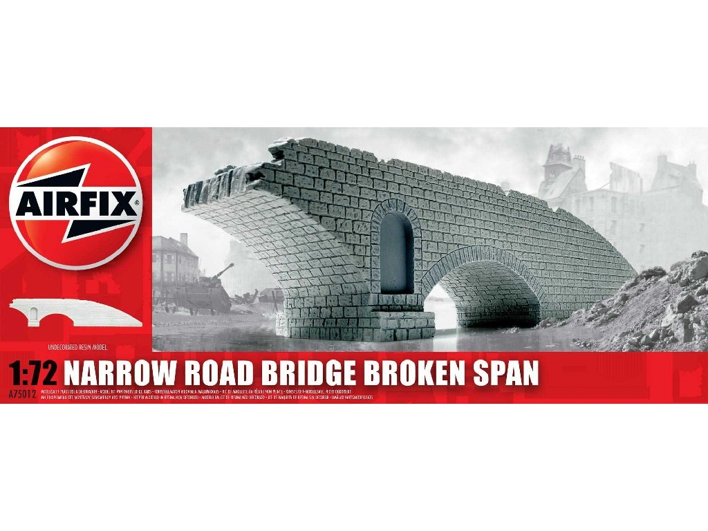 1/72 Classic Kit budova A75012 - Narrow Road Bridge Broken Span