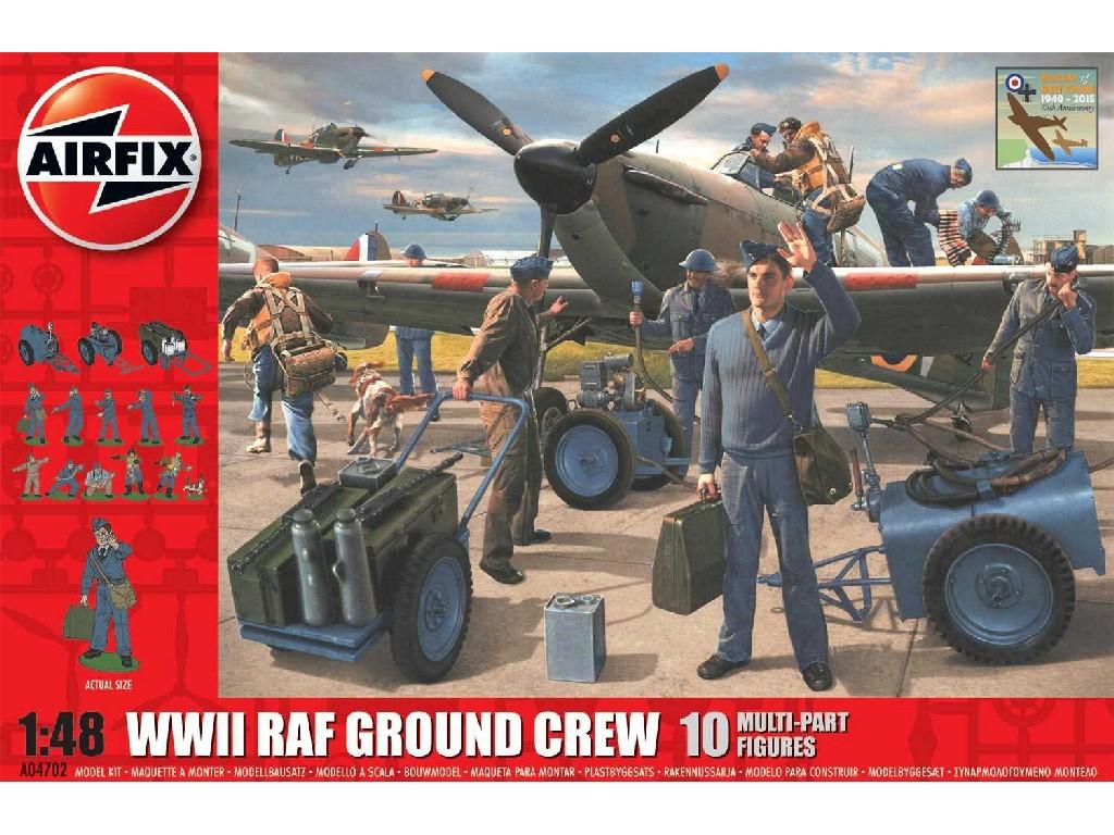 1/48 Plastikový model - diorama A04702 - WWII RAF Ground Crew - nová forma
