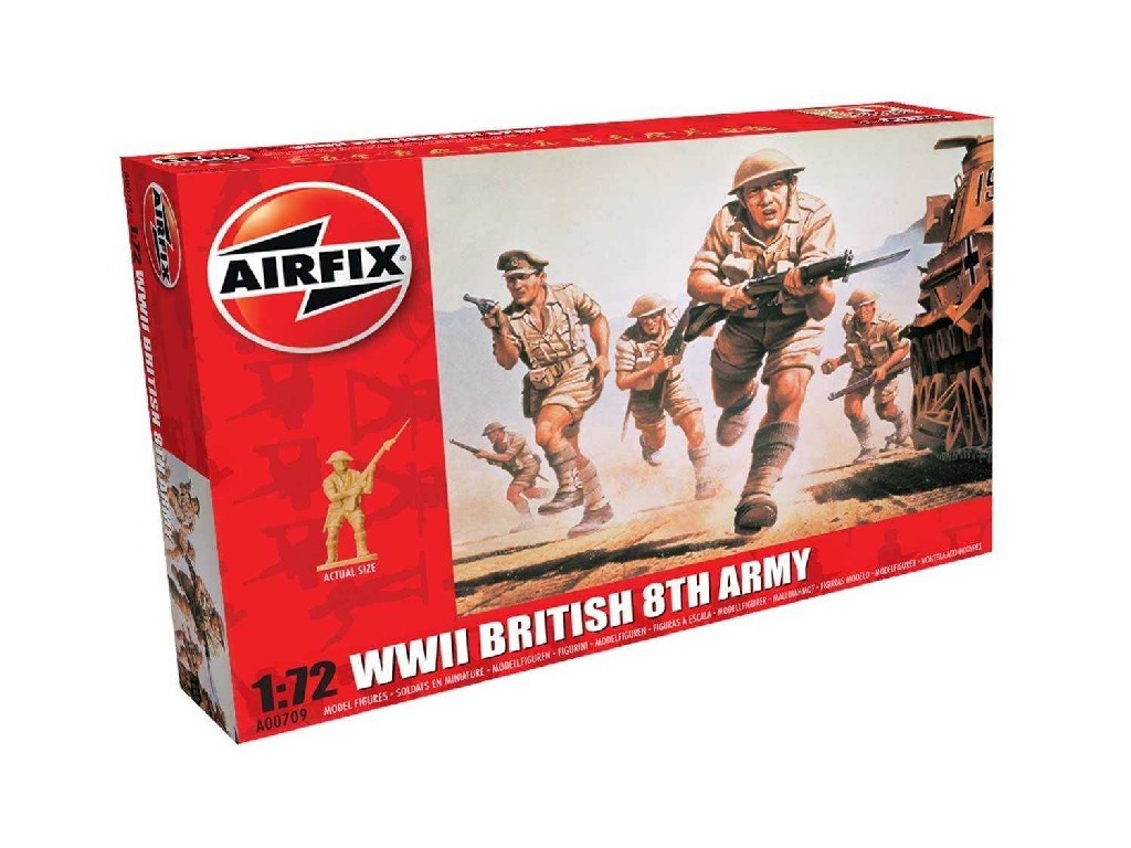 1/72 Plastikový model - figúrky A00709 - WWII British 8th Army