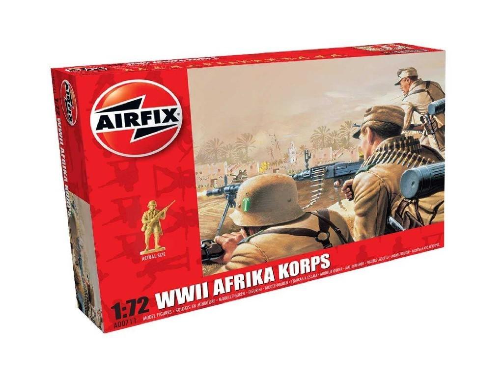 1/72 Plastikový model - figúrky A00711 - WWII Afrika Corps