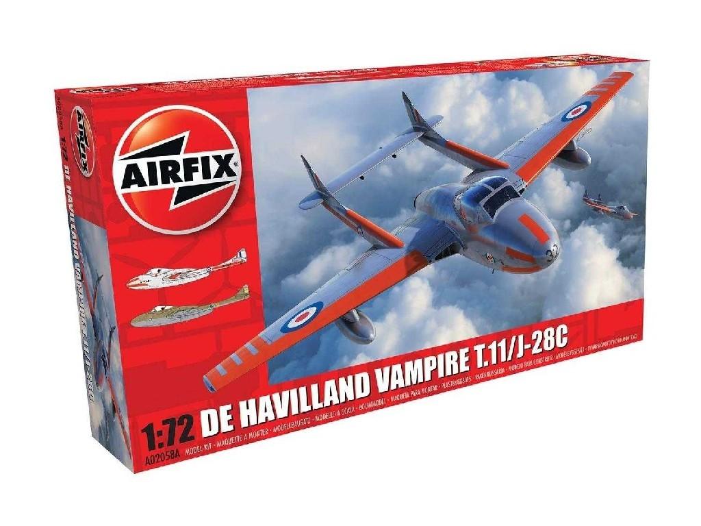 Airfix - letadlo A02058A - deHavilland Vampire T.11 / J-28C 1:72