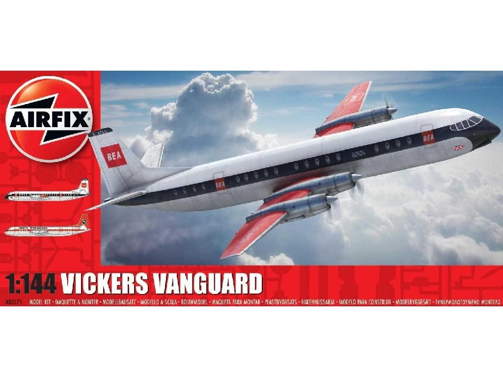 1/144 Plastikový model - letadlo A03171 - Vickers Vanguard - reedice