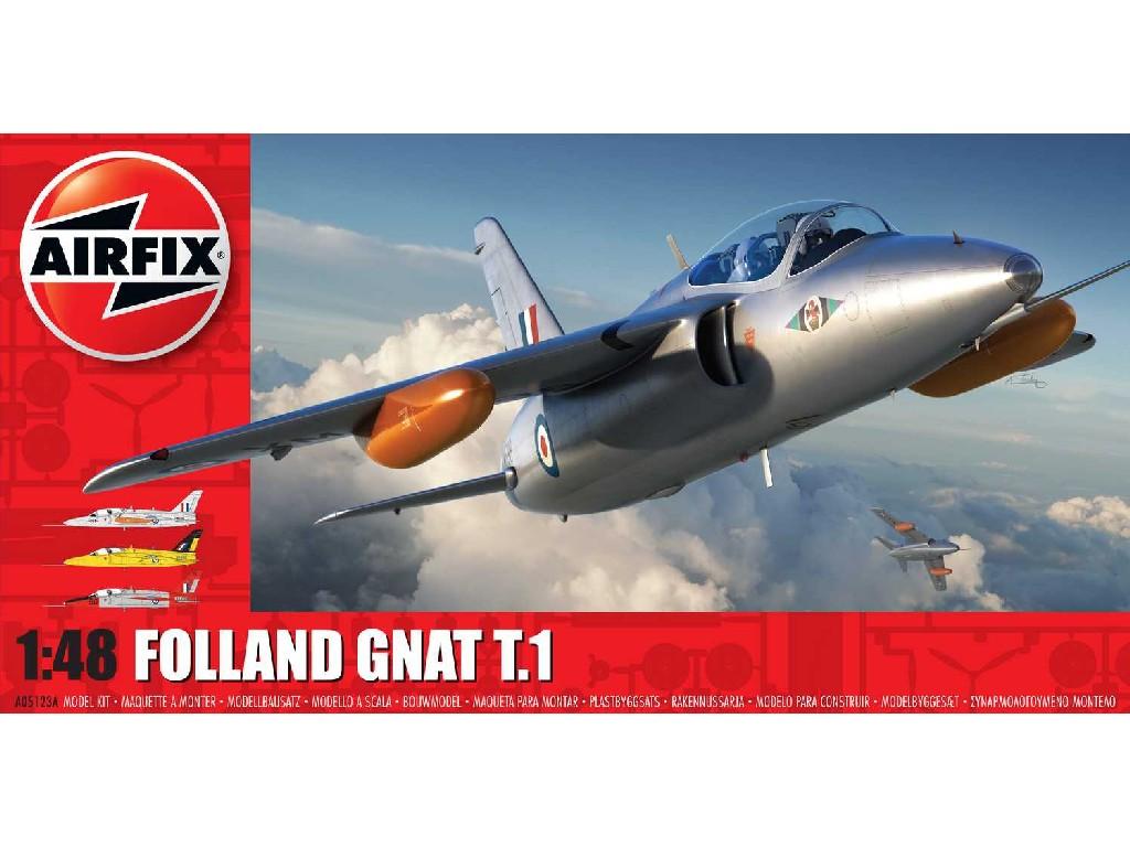 1/48 Plastikový model - letadlo A05123A - Folland Gnat T.1