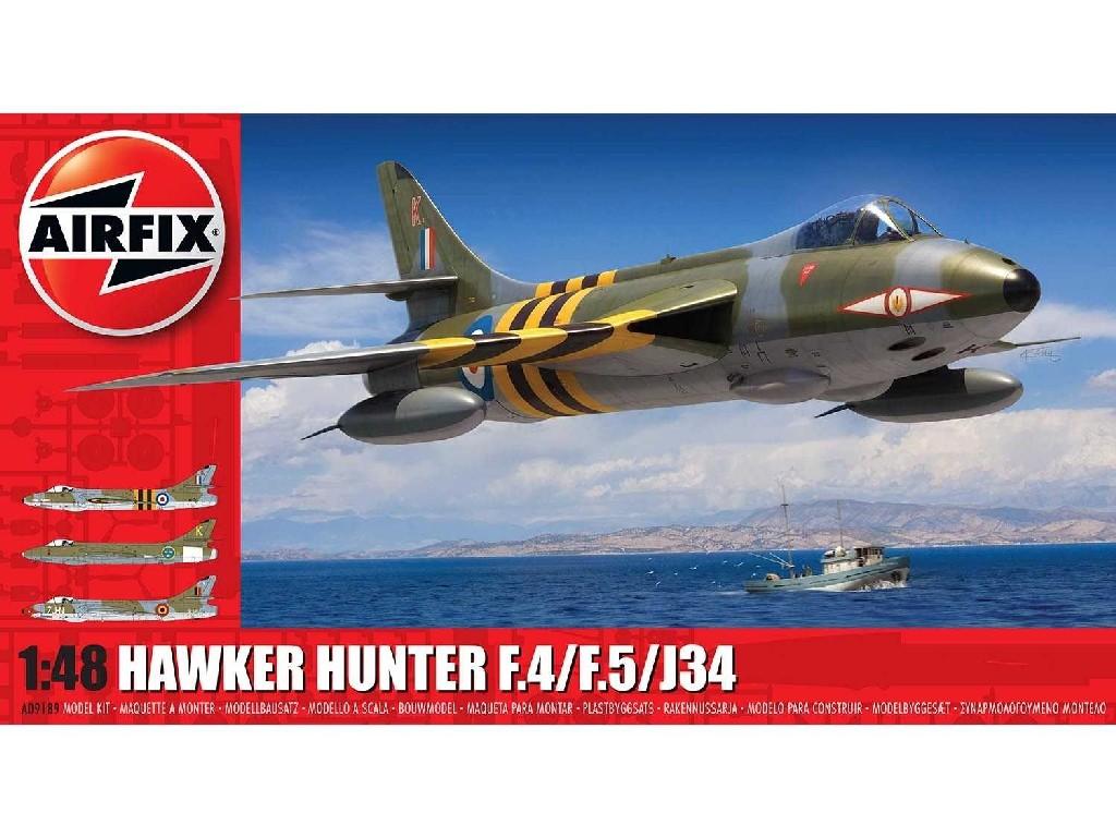 1/48 Plastikový model - letadlo A09189 - Hawker Hunter F.4/F.5/J.34