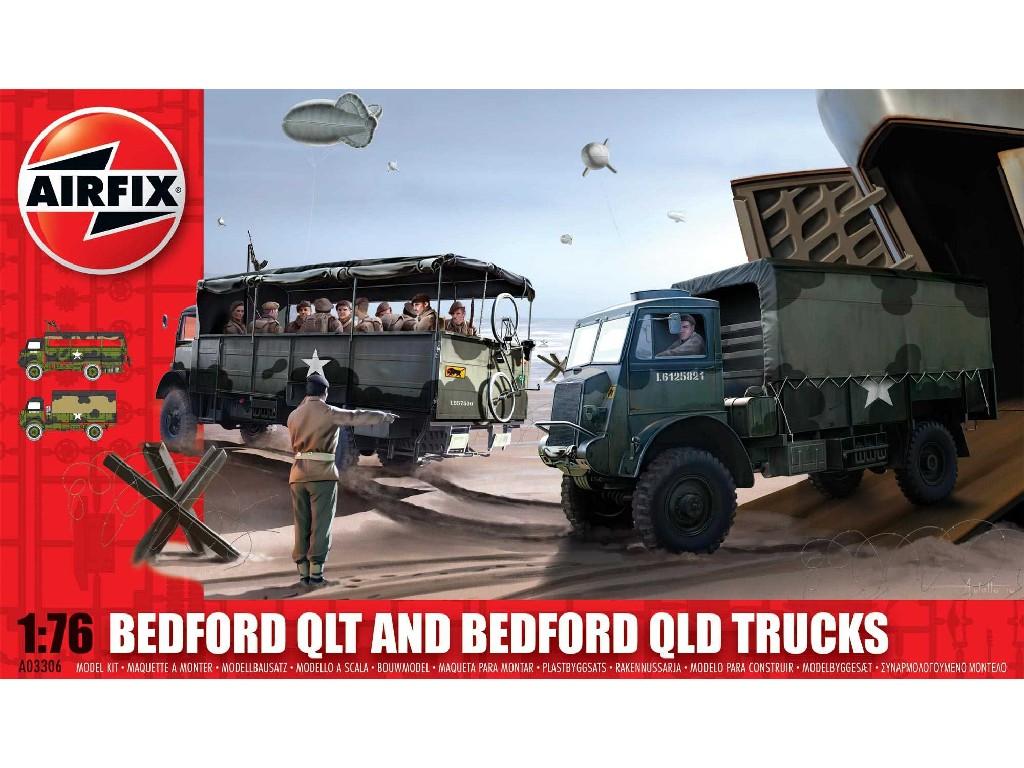 1/76 Plastikový model - military A03306 - Bedford QLD/QLT Trucks