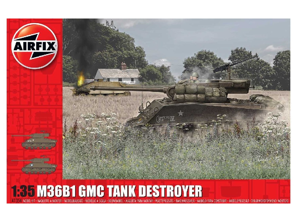 1/35 Plastikový model - tank A1356 - M36B1 GMC (U.S. Army)