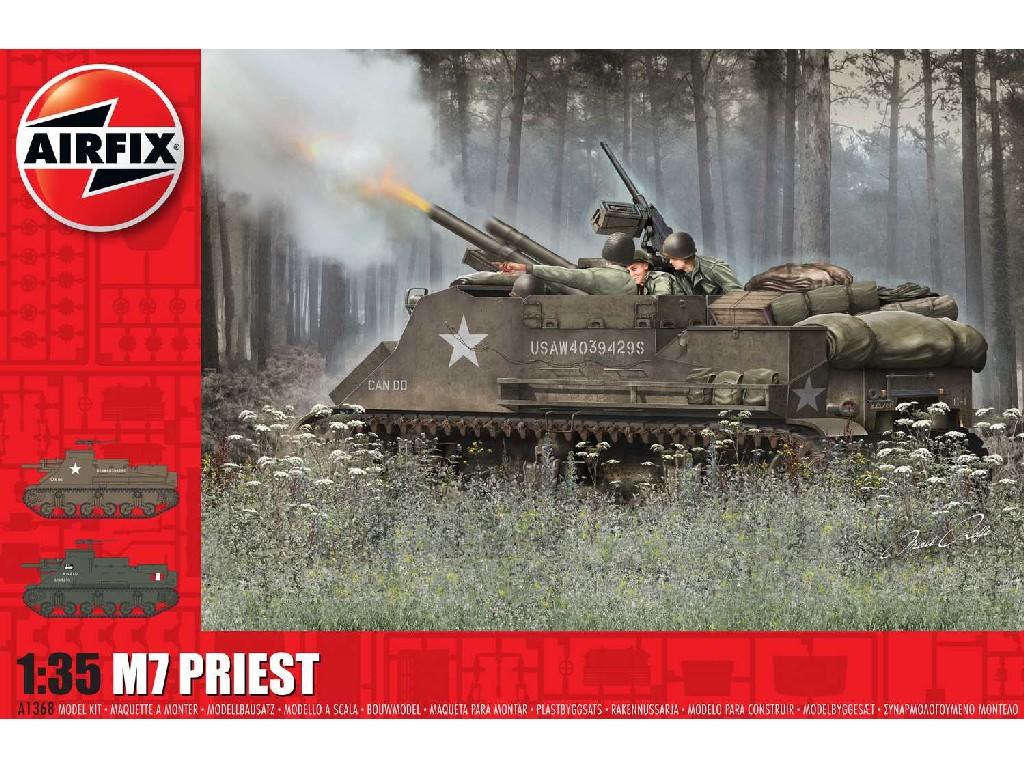 1/35 Plastikový model - tank A1368 - M7 Priest
