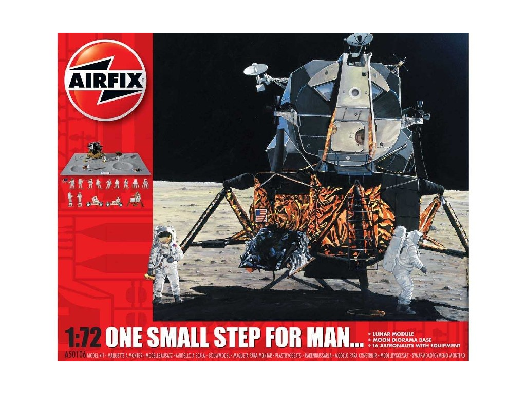1/72 Plastikový model - vesmír A50106 - One Step for Man 50th Anniversary of 1st Manned Moon Landing