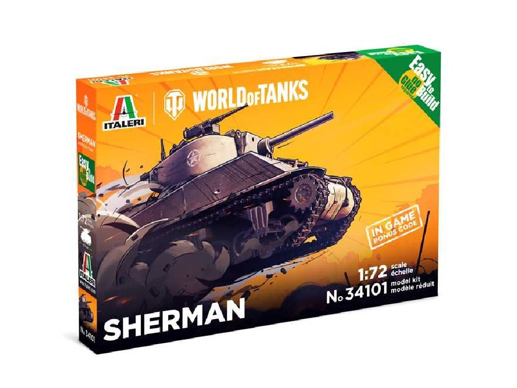 1/72 Jednoduchá stavebnice - World of Tanks 34101 - Sherman