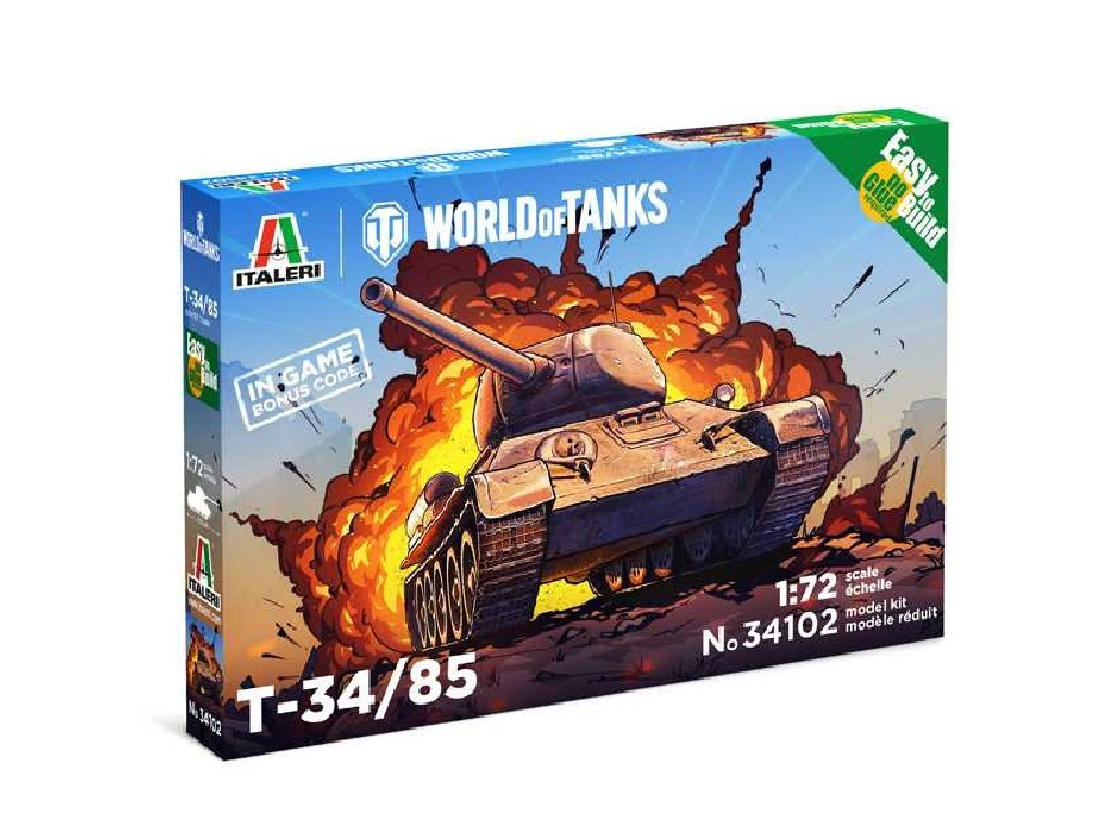 1/72 Plastikový model Set - World of Tanks 34102 - T 34/85