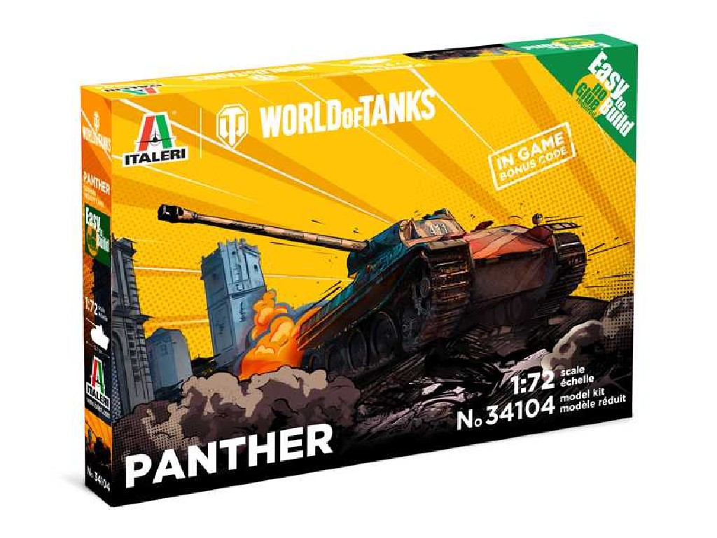 1/72 Plastikový model - Easy to Build World of Tanks 34104 - Panther