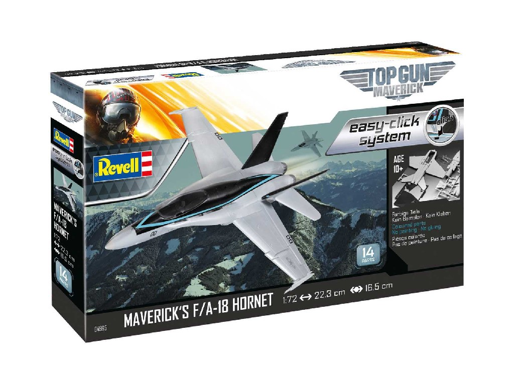 1/72 EasyClick ModelSet letadlo 64965 - Mavericks F/A-18 Hornet and Top Gunand