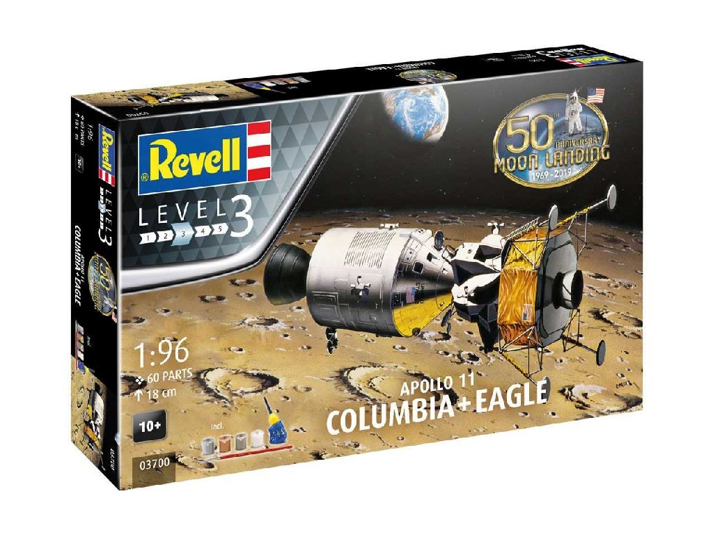 1/96 Gift-Set 03700 - Apollo 11 and Columbiaand and and Eagleand (50 Years Moon Landing)