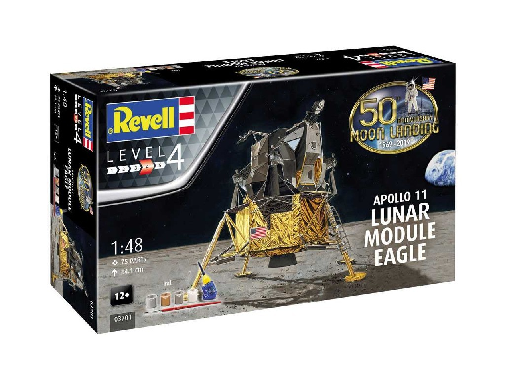 1/48 Gift-Set 03701 - Apollo 11 Lunar Module and Eagleand (50 Years Moon Landing)