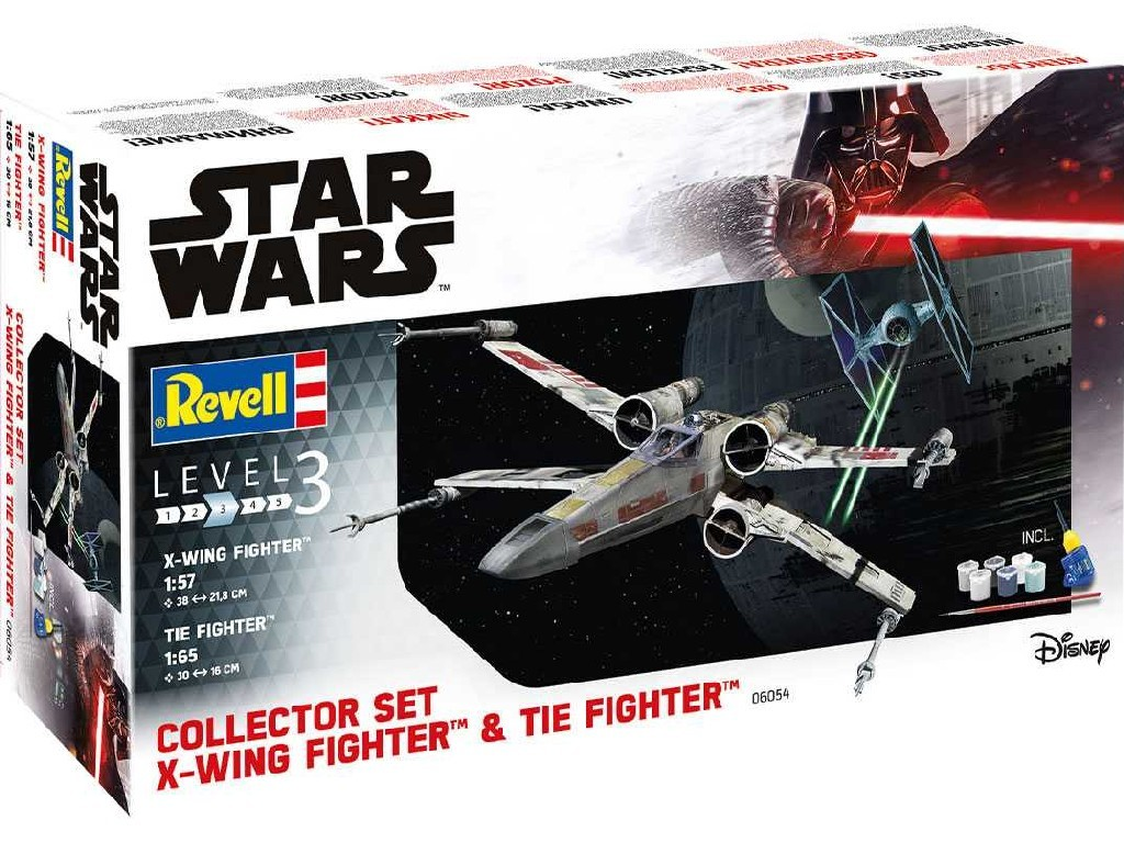 Revell - 06054 - Gift-Set SW 06054 - X-Wing Fighter + TIE Fighter 1:57 + 1:65