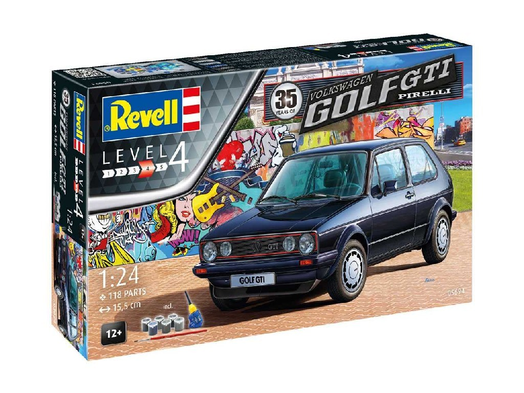 1/24 Gift-Set auto 05694 - 35 Years VW Golf 1 GTi Pirelli