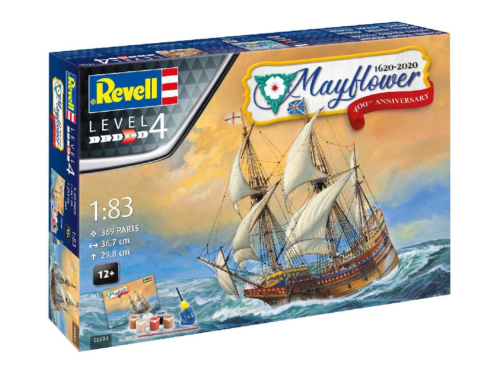 1/83 Gift-Set loď 05684 - Mayflower 400th Anniversary