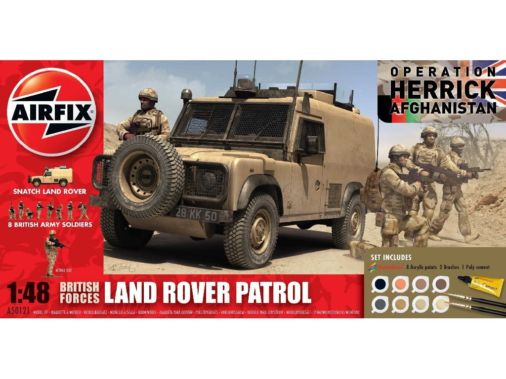 1/48 Gift Set military A50121 - British Forces - Land Rover Patrol