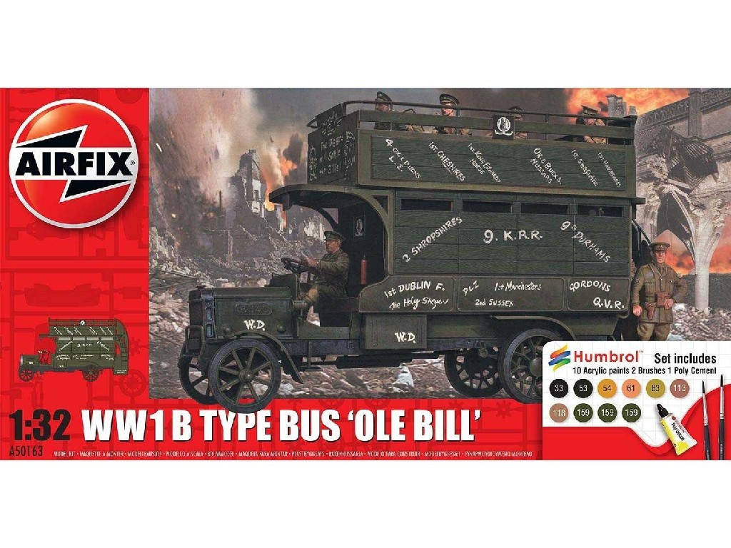 1/32 Gift Set military A50163 - WWI Old Bill Bus