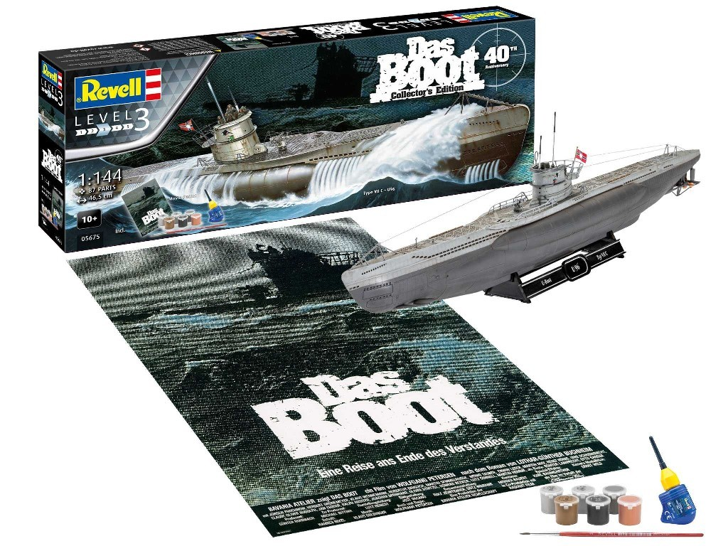 Revell - 05675 - Gift-Set ponorka 05675 - Movie Set DAS BOOT - 40th Anniversary 1:144