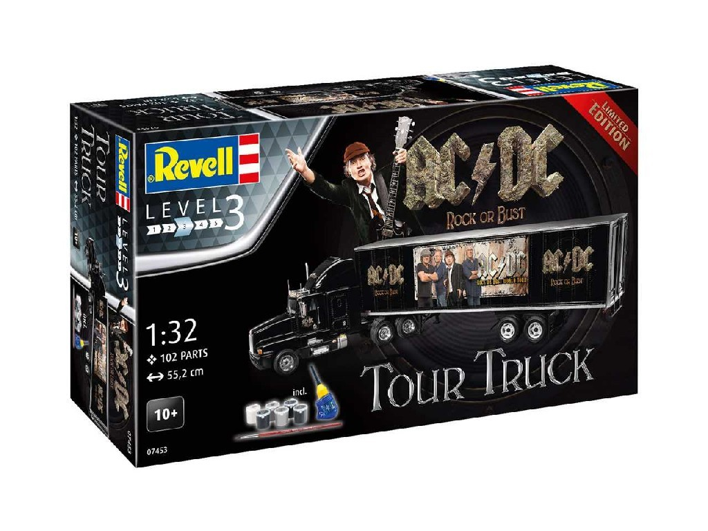 1/32 Gift-Set truck Limited Edition 07453 - Truck and Trailer and AC/DCand