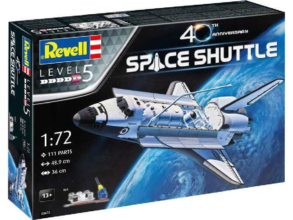 Revell - 05673 - Gift-Set vesmír 05673 - Space Shuttle - 40th Anniversary 1:72