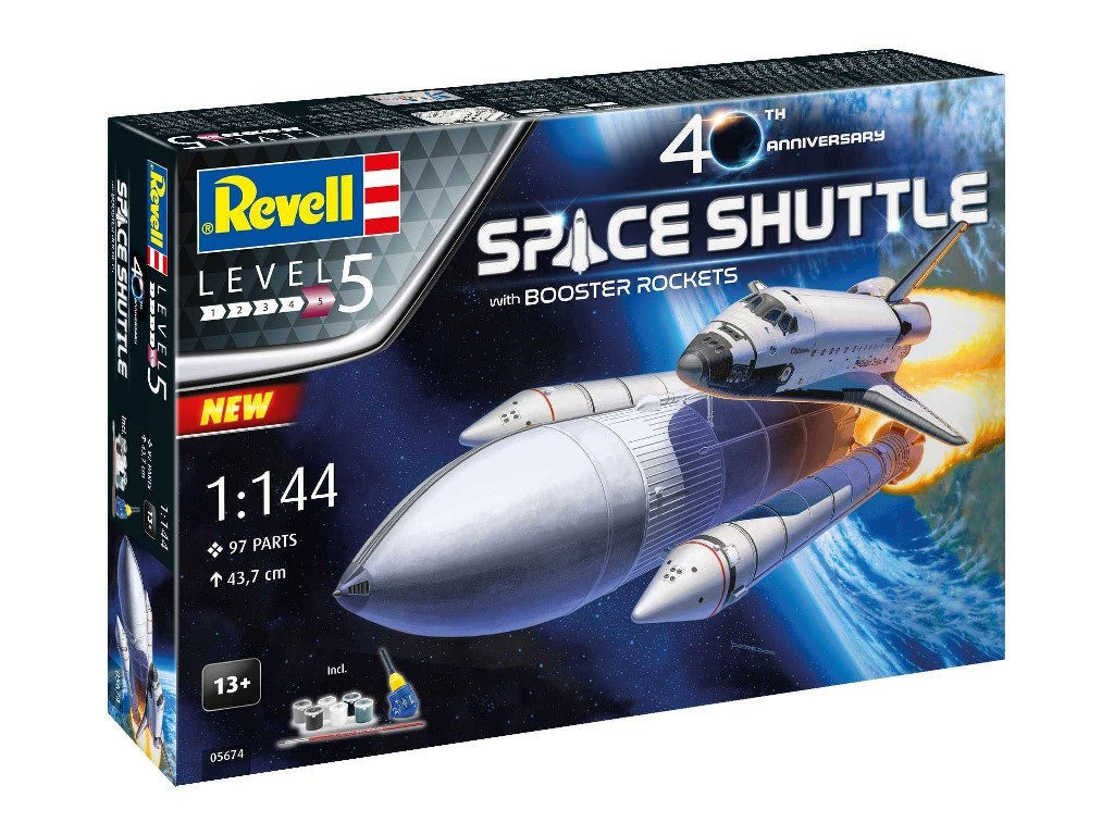 Revell - 05674 - Gift-Set vesmír 05674 - Space Shuttle and Booster Rockets - 40th Anniversary 1:144