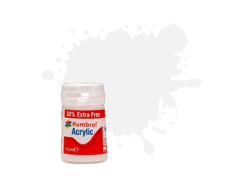Humbrol barva akryl AB0130EP - No 130 White Satin (+ 30% navíc zdarma)