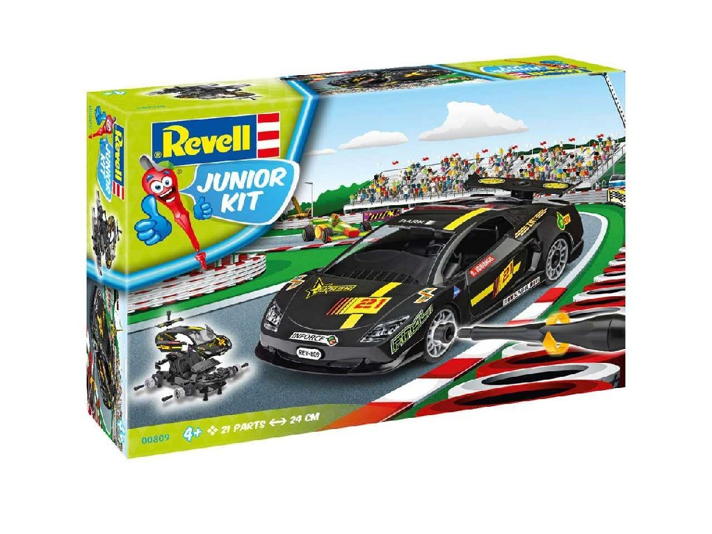 1/20 Junior Kit auto 00809 - Racing Car, black