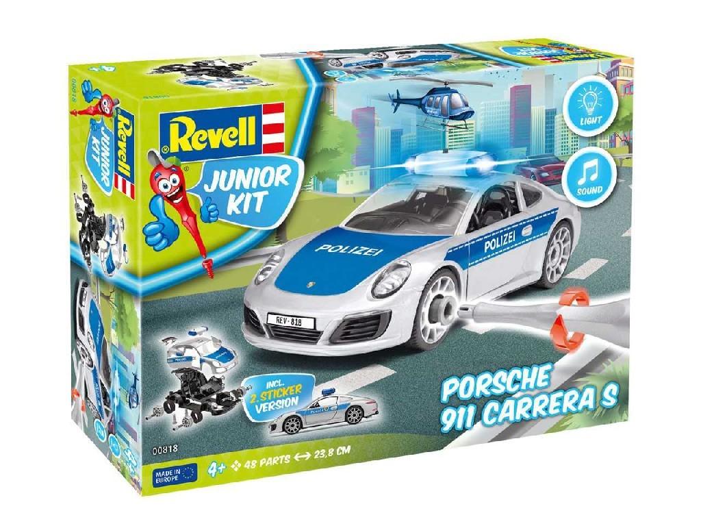1/20 Junior Kit auto 00818 - Porsche 911 Police (světelné a zvukové efekty)