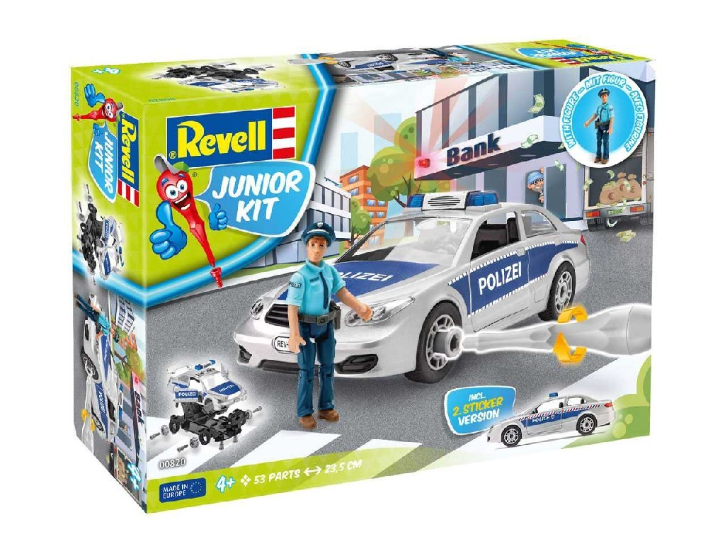 1/20 Junior Kit auto 00820 - Police Car with figure